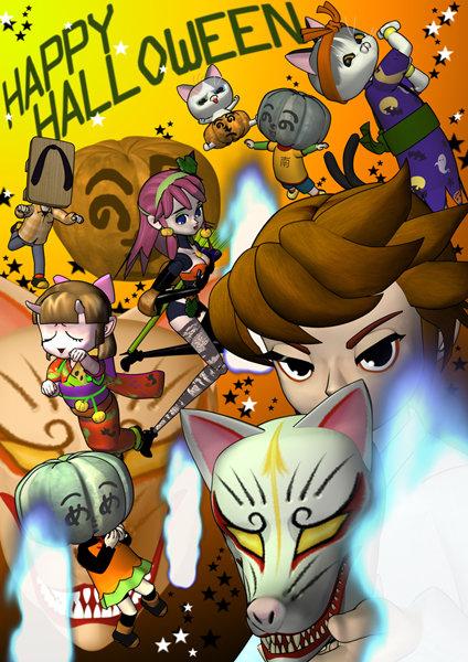halloween-kitune