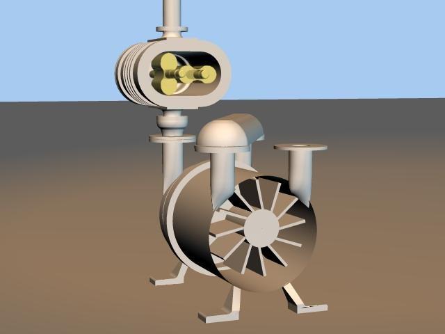 Liquid ring vacuum pump with booster