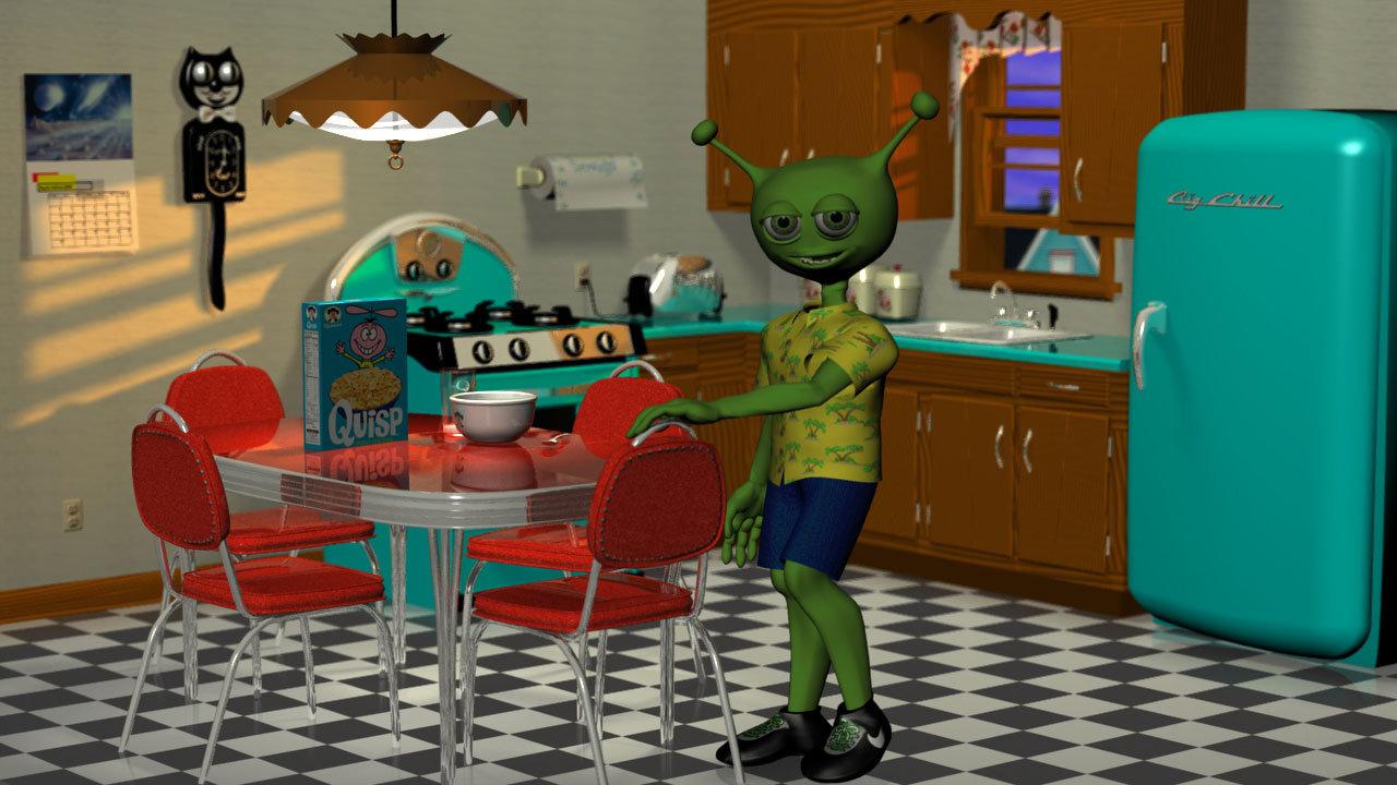 """Martin's Kitchen from WIP """"Alien Invasion"""""""