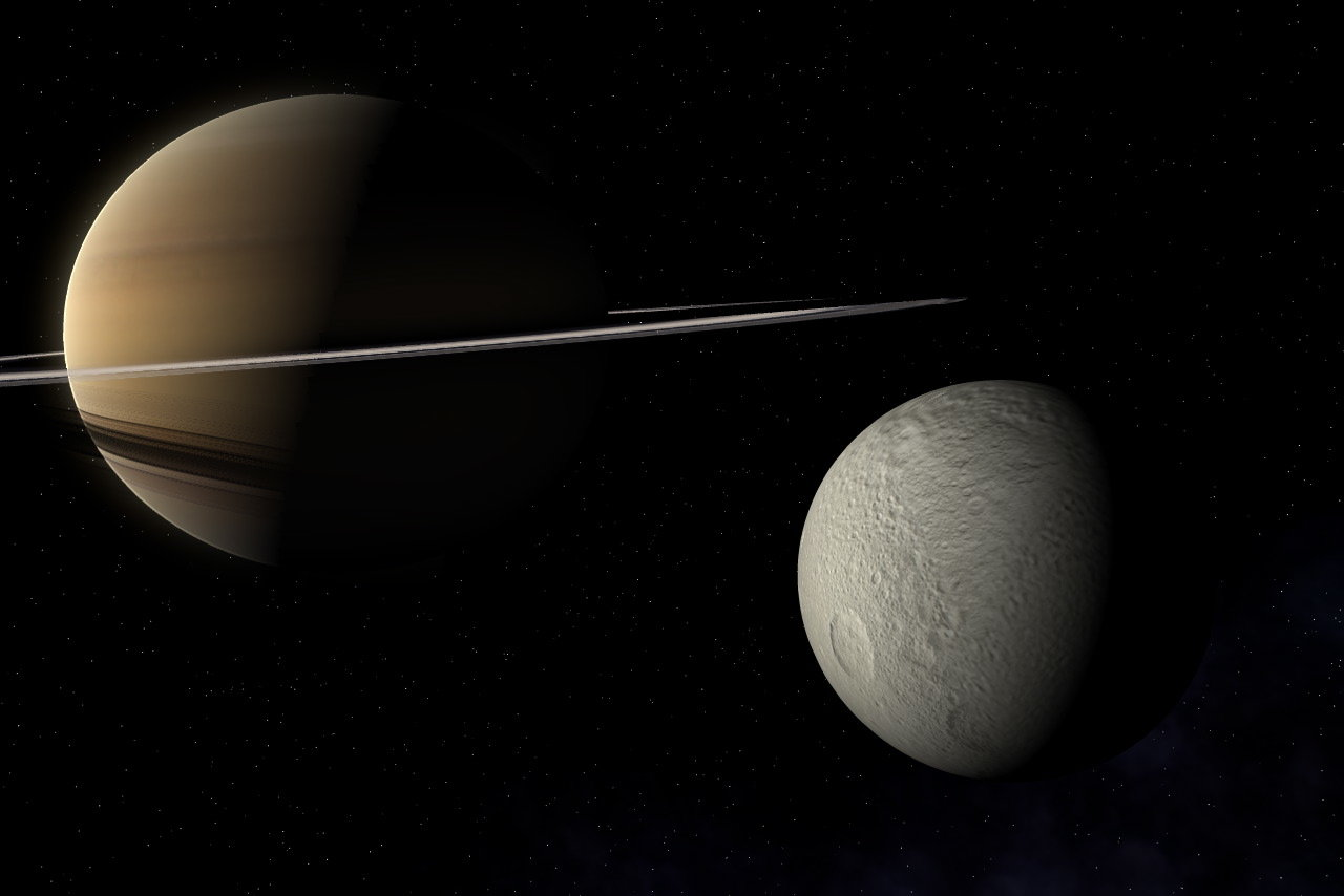 Saturn and Tethys