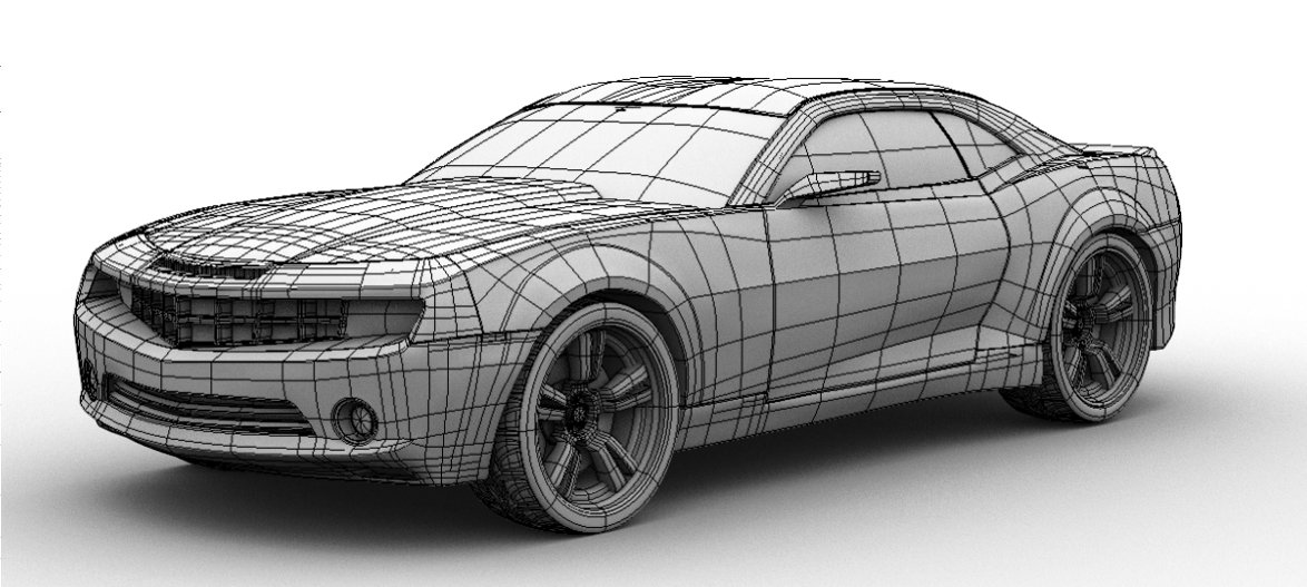 Ford Camaro SS Wireframe