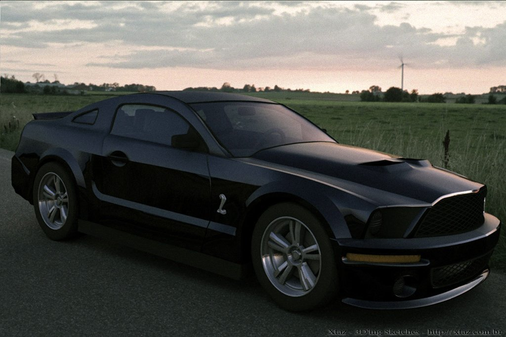 Shelby GT500 on the road